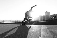 Skater in the bowl Stock Photography