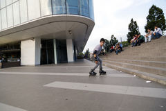 Skater boy in Bursa, TURKEY Stock Photography