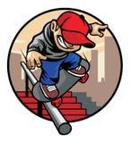 Skater boy doing trick Stock Image