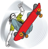 Skater boy illustration Stock Photography