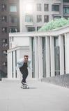 Skater boy on the street in Bangkok. stock photography