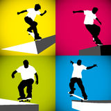 Skater Curb Royalty Free Stock Photography