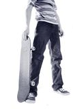 Skater de Duotoned Imagem de Stock Royalty Free