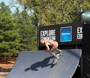 Skater de FISE em Edmonton Alberta Fotos de Stock