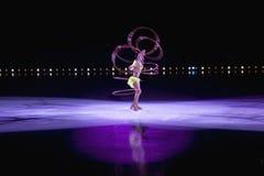 Skater de gelo profissional Fotos de Stock Royalty Free