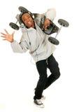 Skater del afroamericano Fotografía de archivo