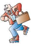 Skater do homem de Busines ilustração royalty free