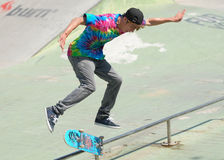 Skater During Contest At Summer Urban Festival Stock Image