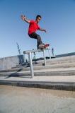 Skater en el carril Imagen de archivo
