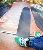Skater en el skatepark Imágenes de archivo libres de regalías