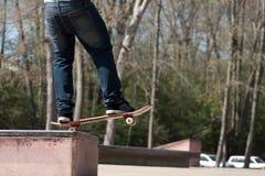 Skater en un carril de la rutina Fotografía de archivo