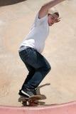 Skater en un cuenco Foto de archivo