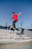 Skater en una diapositiva Fotografía de archivo