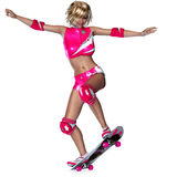 Skater girl Royalty Free Stock Images