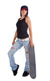 Skater girl Stock Photos