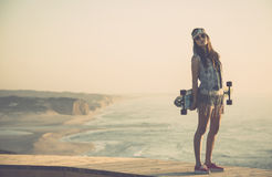 Skater Girl Stock Photos