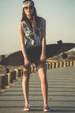 Skater Girl Royalty Free Stock Photos