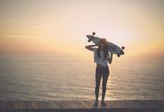 Skater Girl Royalty Free Stock Images