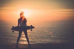 Skater Girl Stock Photography