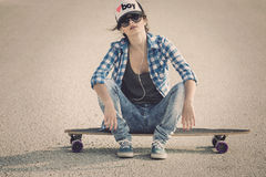 Skater Girl Royalty Free Stock Photography