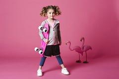 Skater girl with board Stock Image