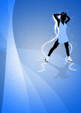 Skater girl, ice dance background. Skater girl, ice dance invitation poster or flyer background with space Stock Photos