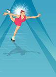 Skater girl, ice dance background Royalty Free Stock Image