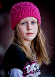 Skater Girl in Pink Hat Royalty Free Stock Photos