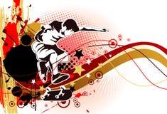 Skater grunge Royalty Free Stock Images
