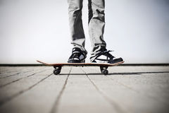 Skater on his board Royalty Free Stock Photo