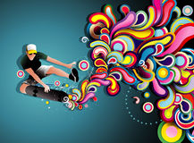 Skater illustration Royalty Free Stock Images