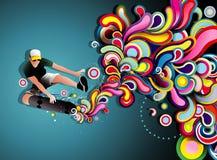 Skater illustration Royalty Free Stock Images