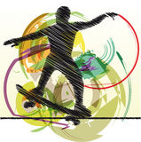 Skater illustration Royalty Free Stock Image