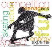 Skater illustration Stock Image