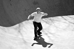 Skater Inside a Bowl Royalty Free Stock Images
