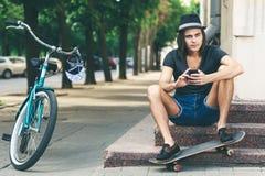 Skater joven Imagenes de archivo
