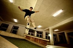 Skater jumping Stock Photography