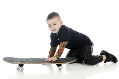 Skater in the Making Royalty Free Stock Images