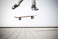 Skater making an olli Stock Images