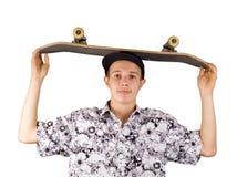 Skater no branco Fotografia de Stock