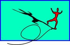Skater no gelo ilustração royalty free