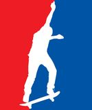 Skater patriótico foto de stock