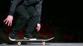 Skater performing 360 flip trick Stock Image