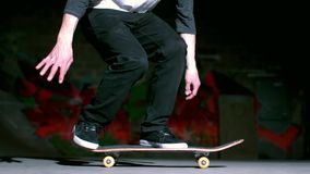 Skater performing impossible 360 trick Stock Photos