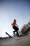 Skater que se cae  Fotografía de archivo