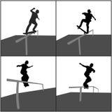 Skater Rail Stock Image