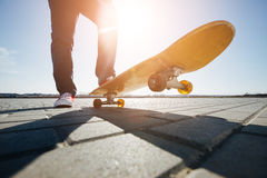 Skater riding a skateboard Royalty Free Stock Photo
