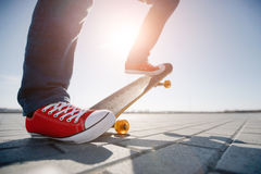 Skater riding a skateboard Royalty Free Stock Image