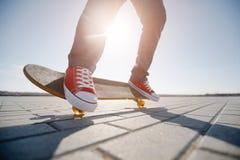 Skater riding a skateboard Stock Photography