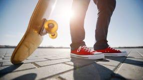 Skater riding a skateboard Stock Image